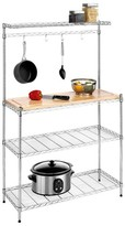 Whitmor Kitchen Shelving Unit with Cutting Board and Baker's Rack