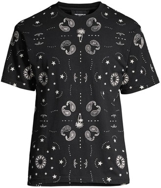 The Kooples Paisley & Star Graphic Tee