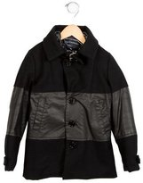 John Galliano Boys' Wool Hooded Coat