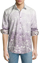 English Laundry Ombre-Print Dress Shirt, Purple