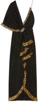 Gucci Embroidered asymmetric silk viscose dress