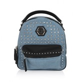 Philipp Plein Philipp PleinGirls Blue Denim Studded Lara Backpack