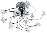 Eurofase 12898-015 Starburst 15-Light Flushmount, Chrome/Crystal
