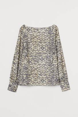 H&M Satin boat-necked blouse