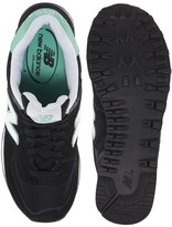 New Balance 574 Suede And Mesh Mint Stripe Sneakers