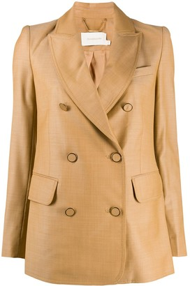 Zimmermann Double Breasted Fitted Blazer