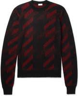 Saint Laurent Jacquard-Knit Mohair-Blend Sweater