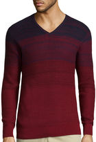Claiborne Long-Sleeve Ombre Texture Sweater