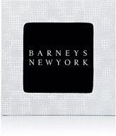 "Barneys New York Studio Gridded-Leather 4"" x 4"" Picture Frame-WHITE"