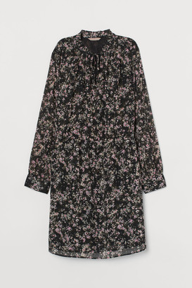 H&M H&M+ Chiffon Dress - Black