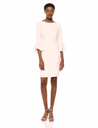 Karl Lagerfeld Paris Women's Tulip Bell Sleeve Crepe Dress