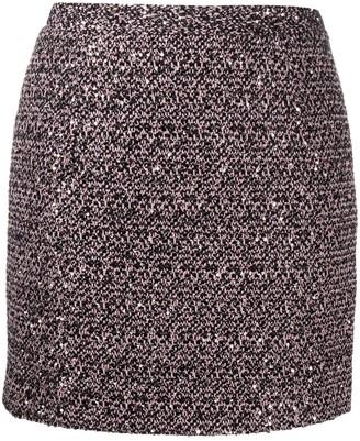 Alessandra Rich High-Rise Tweed Mini Skirt