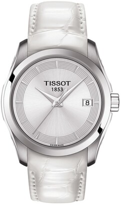 Tissot Women's Couturier Croc Embossed Leather Strap Watch, 32mm