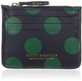Scotch & Soda Men's Credit Card Holder In Leather Quality with Zip