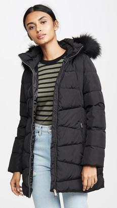 ADD Down Coat With Detachable Fur Hood
