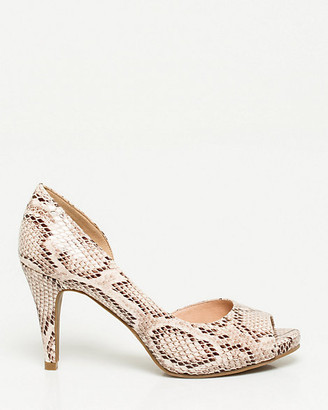 Le Château Snake Print Faux Leather Peep Toe Pump