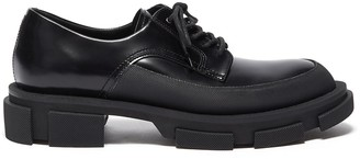 both 'Gao Derby leather shoes