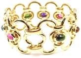 Tiffany & Co. Picasso 18K Yellow Gold Multiple Gemstone Wide Bracelet