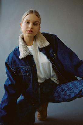 Urban Renewal Vintage Sherpa Lined Denim Jacket