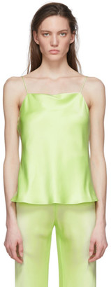 Rosetta Getty Green Bias Satin Camisole