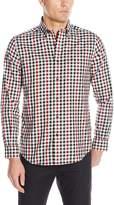 Nautica Men's Long Sleeve Wrinkle Resistant Twill Tattersall Shirt