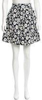 Tibi Floral Knee Gathered Skirt