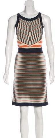 Chanel Striped Sleeveless Dress