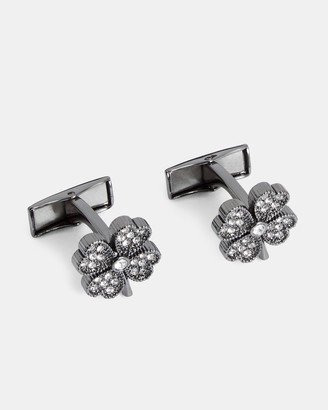 Ted Baker HAPPEE Four leaf clover cufflinks