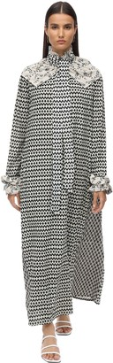 Yvonne S Napoleon Printed Crepe Maxi Dress