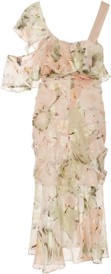 Alice McCall Oh Romeo Ruched Asymmetric Midi Dress