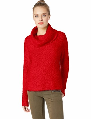 Cupcakes And Cashmere Women's Grover Fluffy Cowl Neck Sweater w/Raglan Sleeves