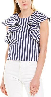 Jason Wu Collection Wide Stripe Top