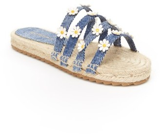 BCBGMAXAZRIA Girls Alexis Flower Espadrille Sandal (Little Girls & Big Girls)