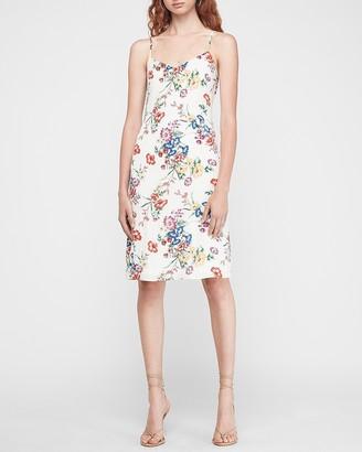 Express Floral Midi Slip Dress