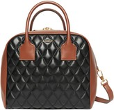 Burberry Medium Cube Quilted Leather Satchel