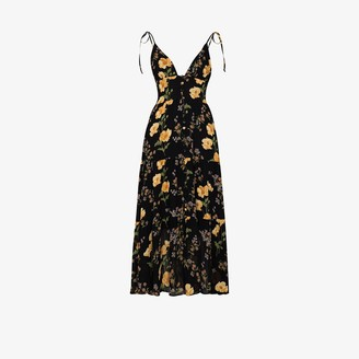 Reformation Jaden floral print midi dress