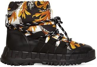 Versace Baroque Nylon & Faux Leather Ski Boots