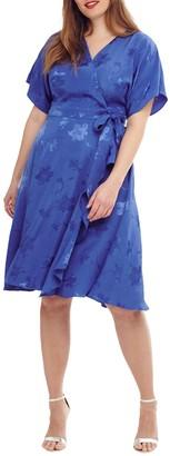 Studio 8 Orla Wrap Dress, Cobalt