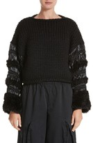 Noir Kei Ninomiya Women's Mixed Media Sweater