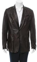 Versace Leather Two-Button Jacket