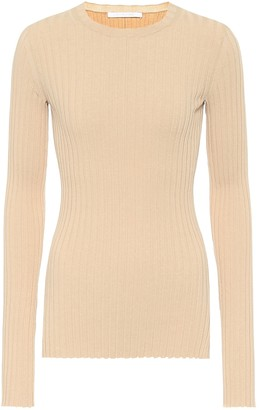 Helmut Lang Ribbed cotton-blend top