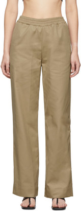 GAUGE81 Tan Durban Trench Trousers