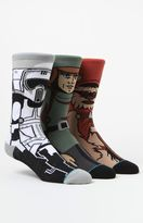 Stance x Disney Star Wars Return Of The Jedi Crew Sock Three Pair Set