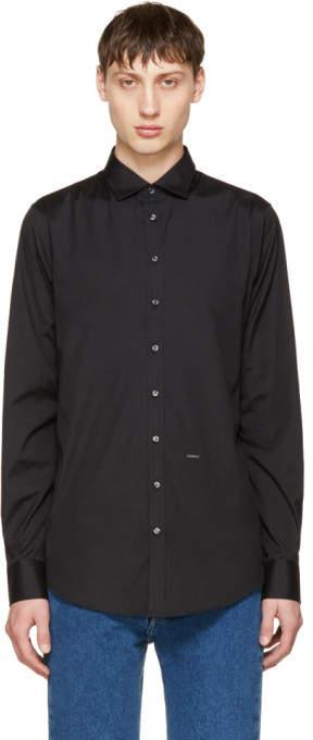 DSQUARED2 Black Poplin Carpenter Shirt