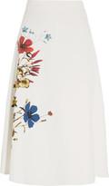 Erdem Maury floral-print stretch-crepe skirt