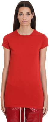 Rick Owens Level Ss T-shirt In Red Cotton