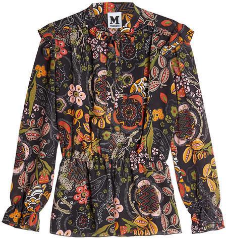 M Missoni Printed Silk Blouse