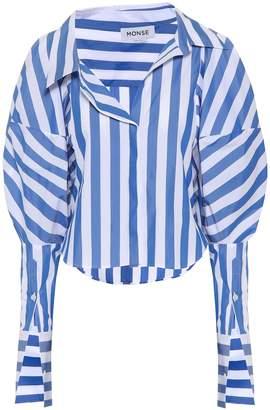 Monse Striped balloon sleeve blouse