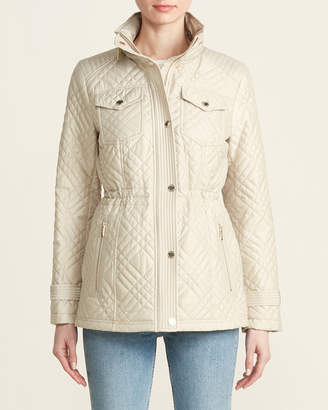 MICHAEL Michael Kors Quilted Stowaway Hood Pocketed Jacket