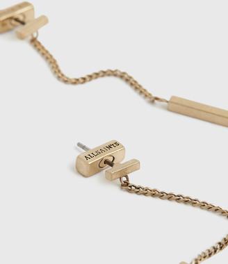 AllSaints Mia Silver-Tone Drop Earrings